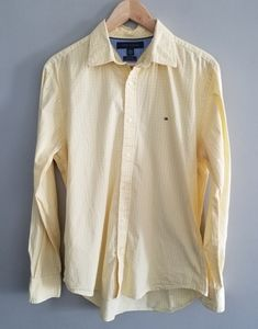 Tommy Hilfiger yellow gingham button down shirt